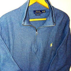 Polo by Ralph Lauren Blue Pullover Sweatshirt XXL